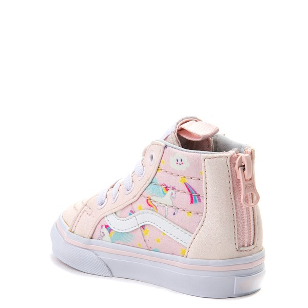 alternate view Vans Sk8 Hi Zip Pegasus Skate Shoe - Baby / Toddler - Light PinkALT2
