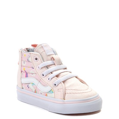 Alternate view of Vans Sk8 Hi Zip Pegasus Skate Shoe - Baby / Toddler - Light Pink