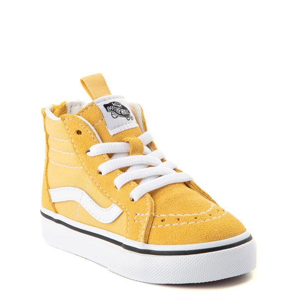 alternate view Vans Sk8 Hi Zip Skate Shoe - Baby / Toddler - YellowALT1