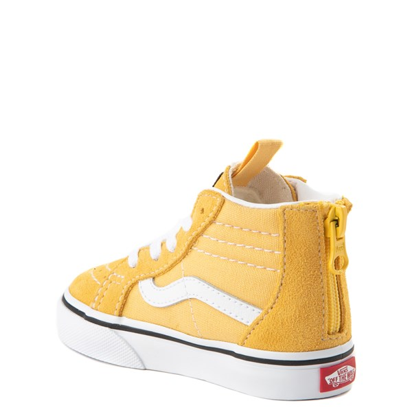 alternate view Vans Sk8 Hi Zip Skate Shoe - Baby / Toddler - YellowALT2
