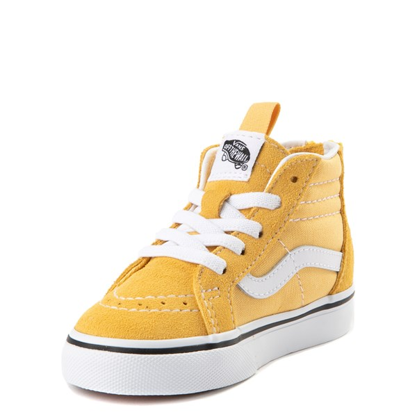 alternate view Vans Sk8 Hi Zip Skate Shoe - Baby / Toddler - YellowALT3
