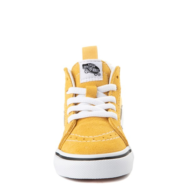 alternate view Vans Sk8 Hi Zip Skate Shoe - Baby / Toddler - YellowALT4