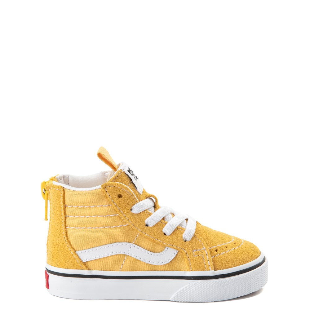 Vans Sk8 Hi Zip Skate Shoe - Baby / Toddler - Yellow
