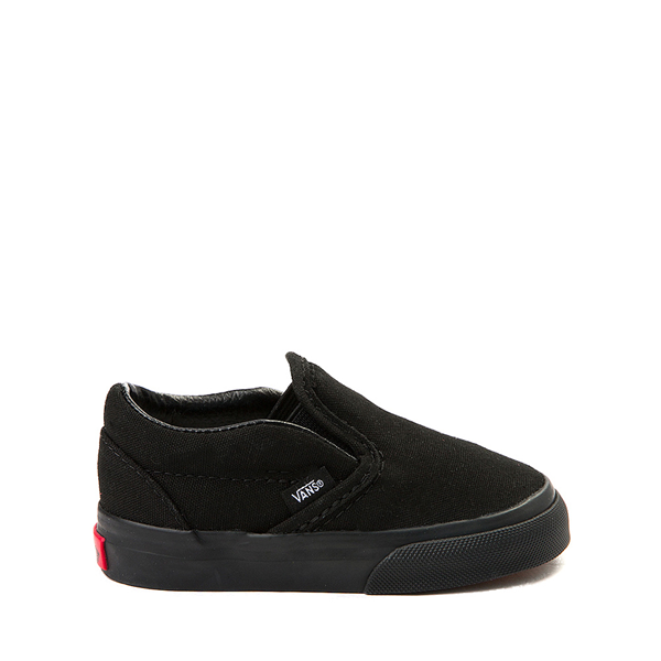 Main view of Vans Slip On Skate Shoe - Baby / Toddler - Black Monochrome