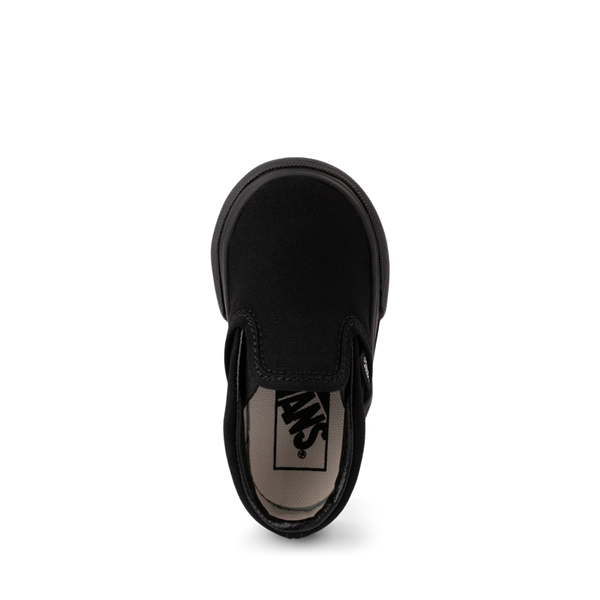 alternate view Vans Slip On Skate Shoe - Baby / Toddler - Black MonochromeALT2