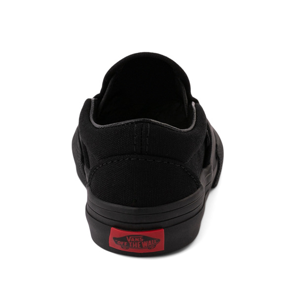 alternate view Vans Slip On Skate Shoe - Baby / Toddler - Black MonochromeALT4