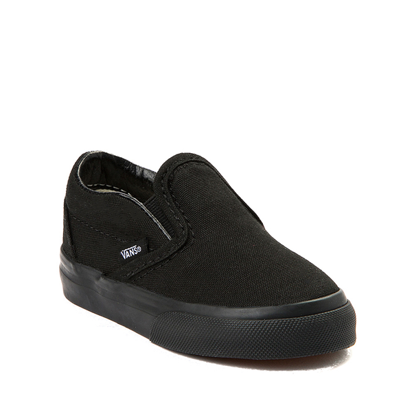 alternate view Vans Slip On Skate Shoe - Baby / Toddler - Black MonochromeALT5
