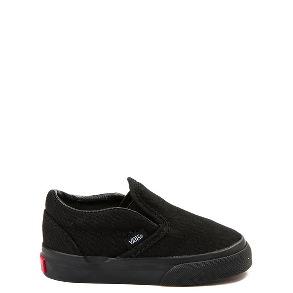 Default view of Vans Slip On Skate Shoe - Baby / Toddler - Black Monochrome