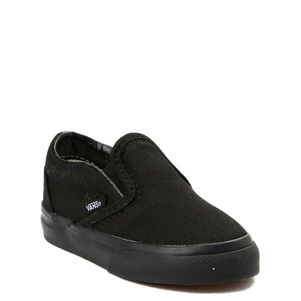alternate view Vans Slip On Skate Shoe - Baby / Toddler - Black MonochromeALT1