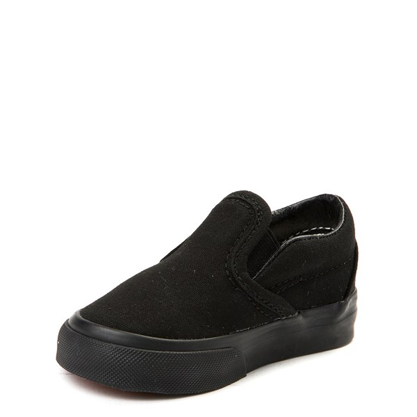 alternate view Vans Slip On Skate Shoe - Baby / Toddler - Black MonochromeALT3