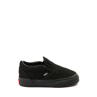 Main view of Vans Slip On Skate Shoe - Baby / Toddler - Black Monochrome