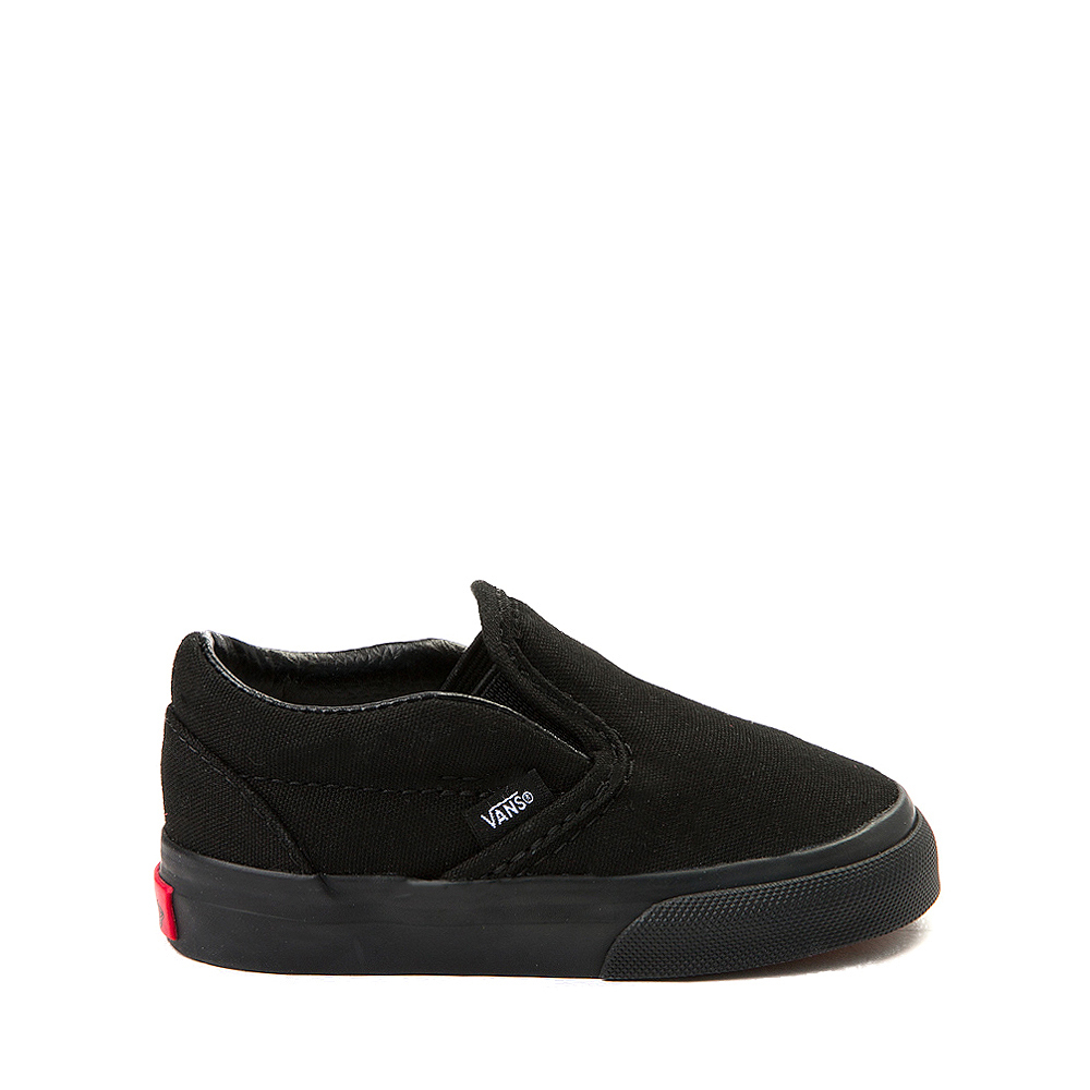 Vans Slip On Skate Shoe - Baby / Toddler - Black Monochrome