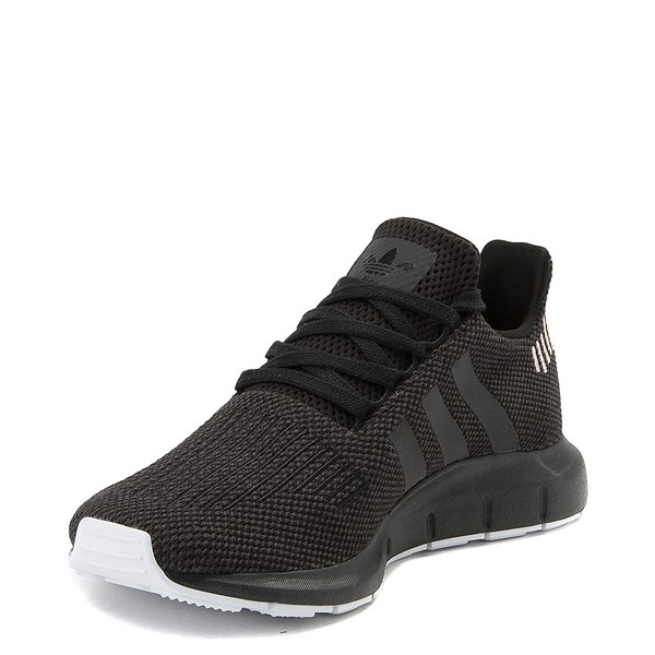 alternate view Womens adidas Swift Run Athletic Shoe - Black / Black / WhiteALT3
