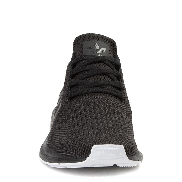 alternate view Womens adidas Swift Run Athletic Shoe - Black / Black / WhiteALT4