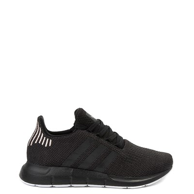 Main view of Womens adidas Swift Run Athletic Shoe - Black / Black / White