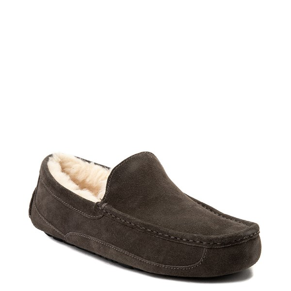 alternate view Mens UGG® Ascot Slip On Casual Shoe - CharcoalALT1