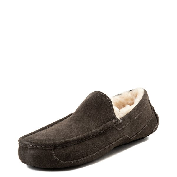 alternate view Mens UGG® Ascot Slip On Casual Shoe - CharcoalALT3