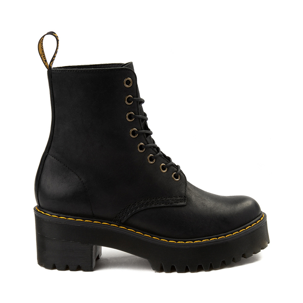 Main view of Womens Dr. Martens Shriver Hi 8-Eye Platform Boot - Black