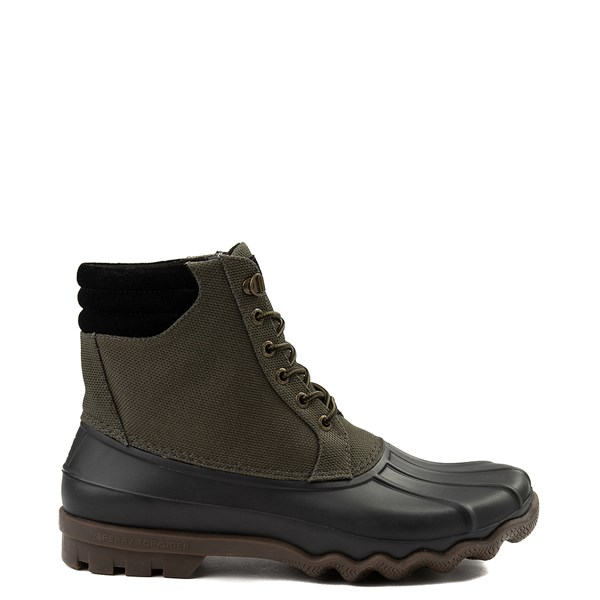 Mens Sperry Top-Sider Avenue Heavy Nylon Duck Boot - Olive