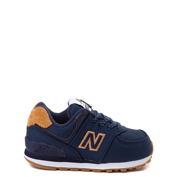 New Balance 574 Athletic Shoe - Baby / Toddler - Navy / Tan