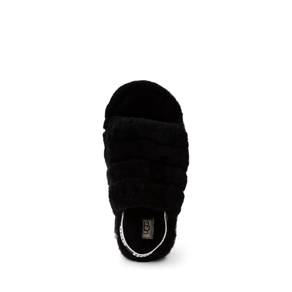 alternate view UGG® Fluff Yeah Slide Sandal - Little Kid / Big Kid - BlackALT2