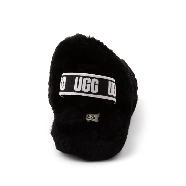 alternate view UGG® Fluff Yeah Slide Sandal - Little Kid / Big Kid - BlackALT4
