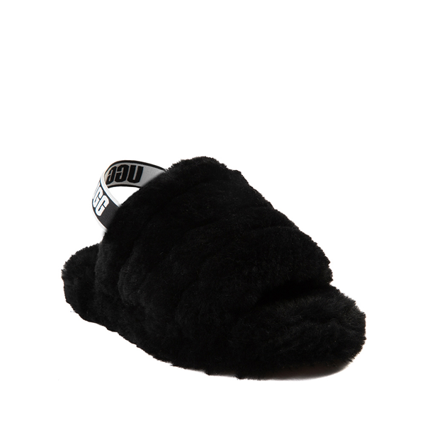 alternate view UGG® Fluff Yeah Slide Sandal - Little Kid / Big Kid - BlackALT5