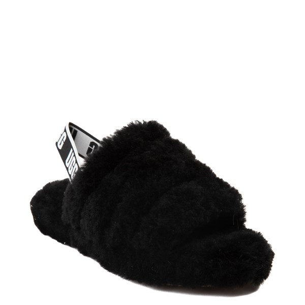 alternate view UGG® Fluff Yeah Slide Sandal - Little Kid / Big Kid - BlackALT1