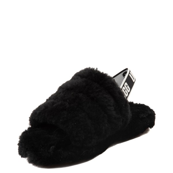 alternate view UGG® Fluff Yeah Slide Sandal - Little Kid / Big Kid - BlackALT3