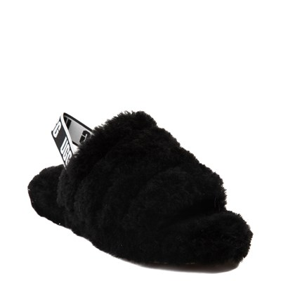 Alternate view of UGG® Fluff Yeah Slide Sandal - Little Kid / Big Kid - Black