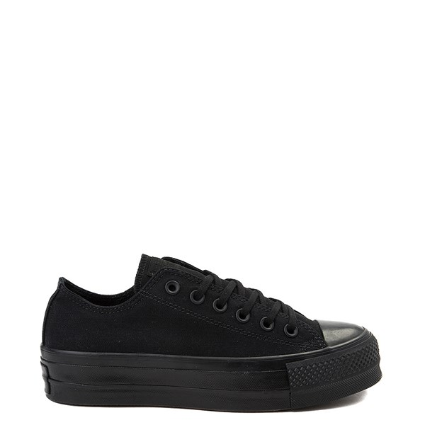 Default view of Womens Converse Chuck Taylor All Star Lo Platform Sneaker - Black Monochrome