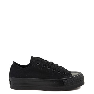 Main view of Womens Converse Chuck Taylor All Star Lo Platform Sneaker - Black Monochrome