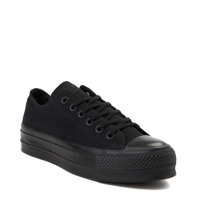 Alternate view of Womens Converse Chuck Taylor All Star Lo Platform Sneaker - Black Monochrome
