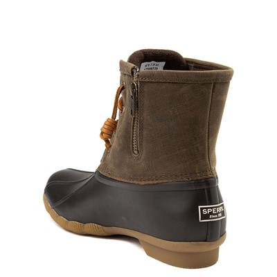 Alternate view of Womens Sperry Top-Sider Saltwater Boot - Olive / Brown