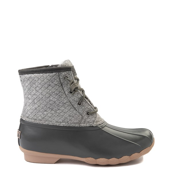Main view of Womens Sperry Top-Sider Saltwater Wool Boot - Gray