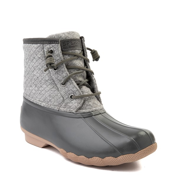 alternate view Womens Sperry Top-Sider Saltwater Wool Boot - GrayALT5