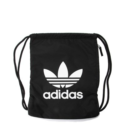 Main view of adidas Trefoil Drawstring Backpack - Black