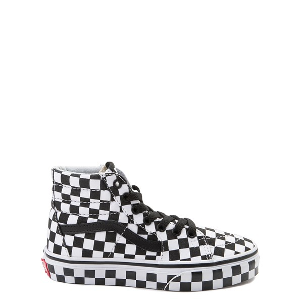 Default view of Vans Sk8 Hi Full Chex Skate Shoe - Little Kid