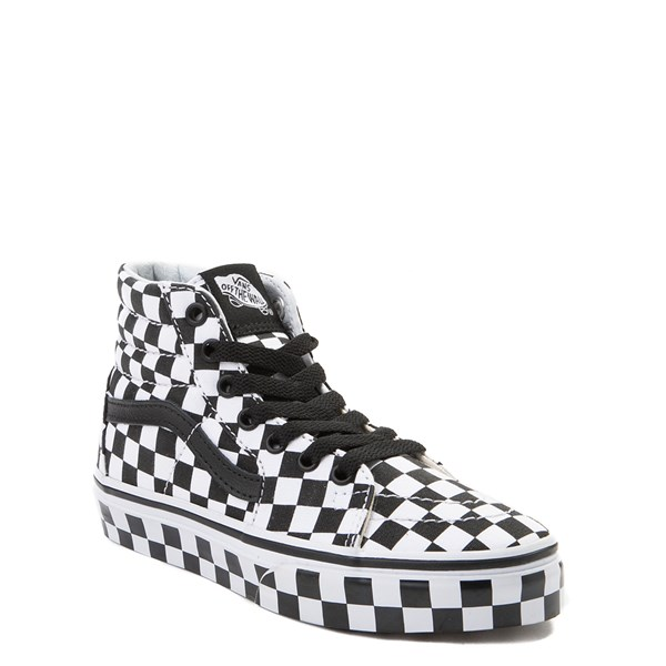 Alternate view of Vans Sk8 Hi Full Chex Skate Shoe - Little Kid