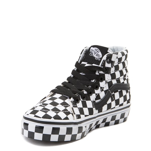 alternate view Vans Sk8 Hi Full Chex Skate Shoe - Little KidALT3