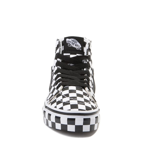 alternate view Vans Sk8 Hi Full Chex Skate Shoe - Little KidALT4