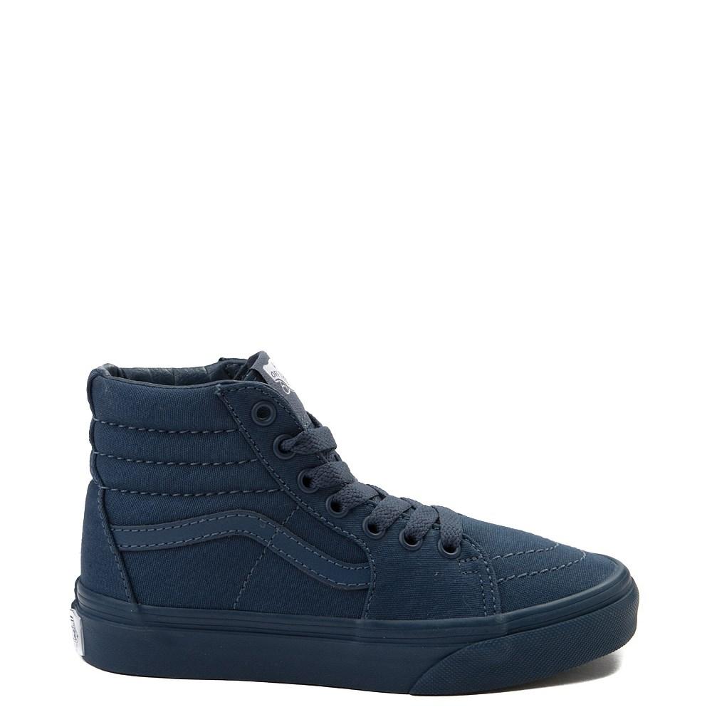 Youth/Tween All-Navy Vans Sk8 Hi Skate Shoe