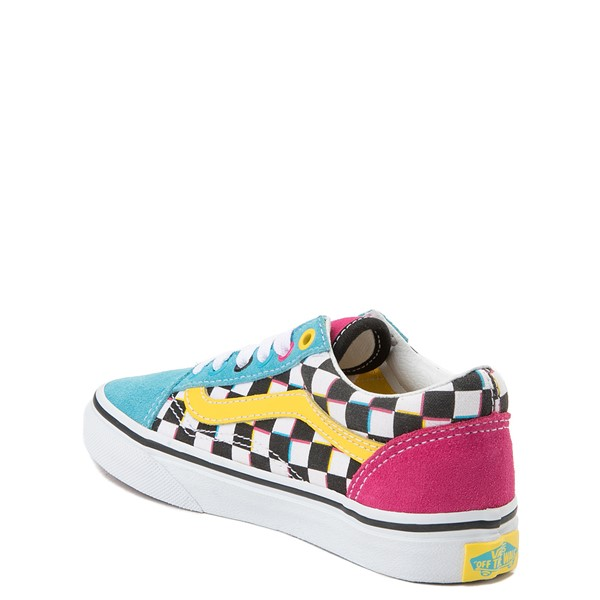 alternate view Vans Old Skool Checkerboard Skate Shoe - Little Kid / Big Kid - MultiALT2