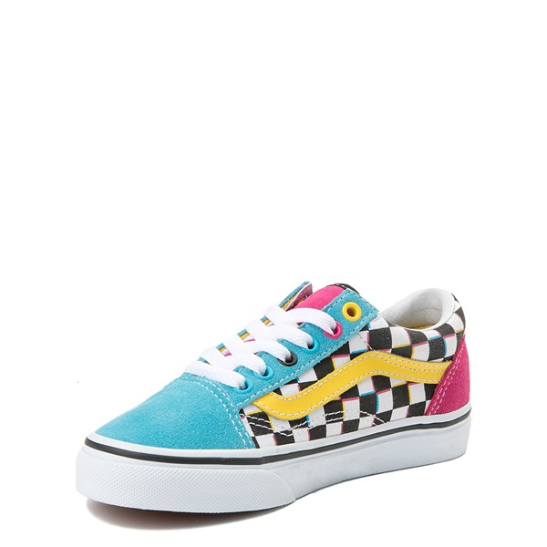 alternate view Vans Old Skool Checkerboard Skate Shoe - Little Kid / Big Kid - MultiALT3
