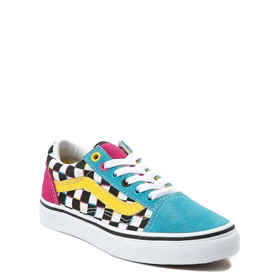 Alternate view of Vans Old Skool Checkerboard Skate Shoe - Little Kid / Big Kid - Multi
