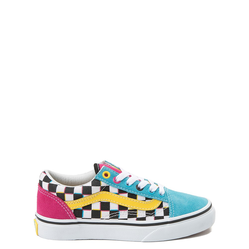 Vans Old Skool Checkerboard Skate Shoe - Little Kid / Big Kid - Multi