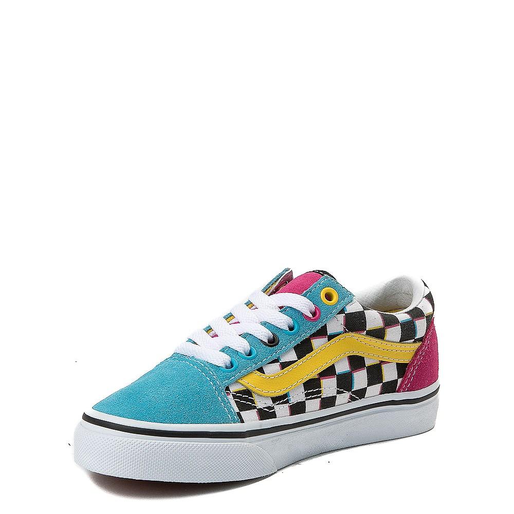 f9664a2d779 Vans Old Skool Chex Skate Shoe - Little Kid   Big Kid