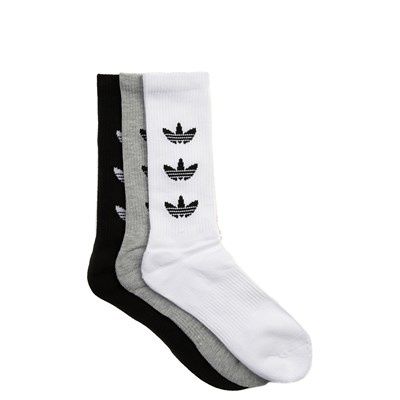 Main view of Mens adidas Trefoil Crew Socks 3 Pack