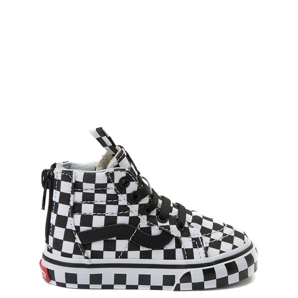 Default view of Vans Sk8 Hi Zip Full Chex Skate Shoe - Baby / Toddler
