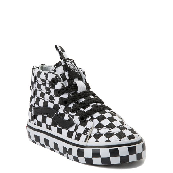 Alternate view of Vans Sk8 Hi Zip Full Chex Skate Shoe - Baby / Toddler